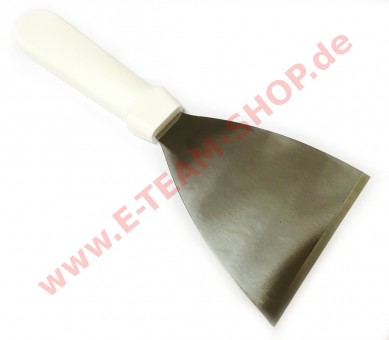 Bratenspachtel aus starrem Edelstahl - Spatelmaß 11,5x10cm