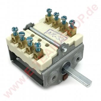 Nockenschalter 2 Schaltstellungen 4NO Schaltfolge 0-1 250V 16A Achse Ø 6x4,6mm zum Aufstecken auf Thermostat