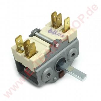 Vorsatzschalter 2-polig Schaltfolge 0-1 250V 16A Achse Ø 6x4,6mm Anschluss Flachstecker 6,3mm EGO-Nr.: 4921015600
