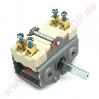 Vorsatzschalter 2-polig Schraubanschluss 16A 250V max. 150°C Achse Ø 6x4,6mm