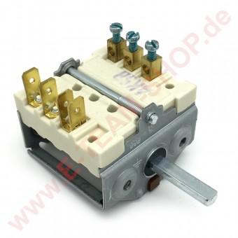 Vorsatzschalter 2 Schaltstellungen 3NO Schaltfolge 0-1 250V 16A 3-polig Achse Ø 6x4,6mm zum Aufstecken auf Thermostat