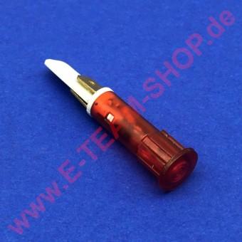 Kontrolllampe 400V rot, für Bohrung Ø 10mm, Kopf Ø 13,5mm