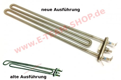 Boilerheizkörper 2700W-3200W 220-240V Eintauchtiefe 315mm Breite 55mm, verwendbar z.B. für Bartscher, Colged, Dexion u.a.