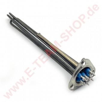 Boilerheizkörper 5500-6543W 220-415V Tiefe 360mm Flansch Außen Ø 63mm mit Fühlerhülse z.B. für Colged, Elettrobar u.a.