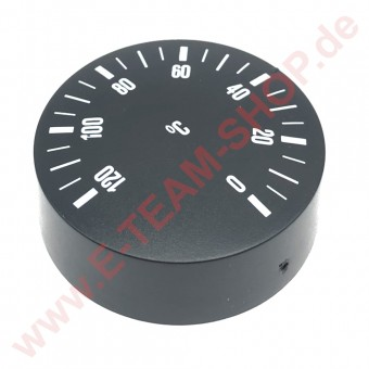 Knebel für Thermostat Ø 42mm, schwarz, 0-120°C