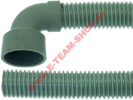 Ablaufschlauch 1500mm Muffe 90° Innen Ø 40mm, z.B. für Bartscher Spülmaschine