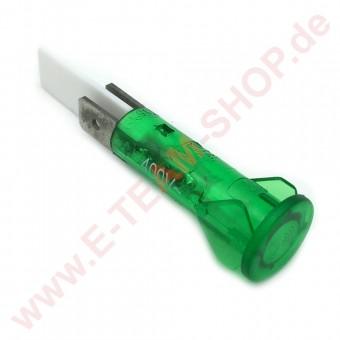 Kontrolllampe 400V grün, für Bohrung Ø 10mm, Kopf Ø 12mm