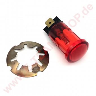 Kontrolllampe 400V rot, für Bohrung  Ø 16mm