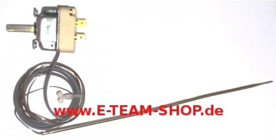 Regelthermostat 1-polig  50-250° Fühler Ø 3,1x 230mm, z.B. für Eloma