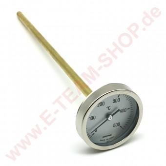 Thermometer T.max.+ 500°C  Fühler Ø 9mm Fühler-Länge 300mm
