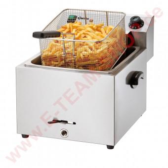 Fritteuse IMBISS PRO 1 x 9,7 Liter Korbinhalt 9,2 Liter 8,1kW 400V 3N AC 50Hz