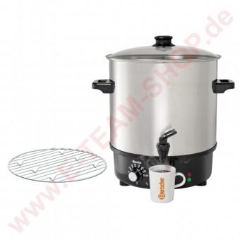 Glühweintopf 25 Liter 2000W 230V mit Ablaufhahn Temperaturbereich von 30° bis 100°C - Edelstahl