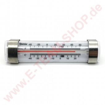 Tiefkühl-/Kühlschrank-Thermometer, Edelstahlgehäuse mit Aufhängevorrichtung, Meßbereich: -40°C bis + 25°C