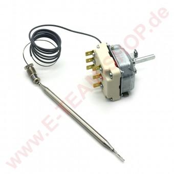 Regelthermostat 3-polig 176°C Fühler Ø 6x135mm Achse Ø 6x4,6mm Stopfbuchse M10x1, z.B. für EKU Fritteuse