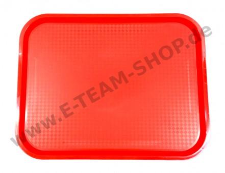 Polypropylen-Tablett, rot, 455 x 355 mm
