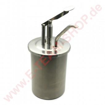 RAS Mayospender Edelstahl  3,5 Liter komplett, Behälter Ø 151mm (Außenmaß Rand Ø 166mm), Höhe 220mm, Gesamthöhe 364mm