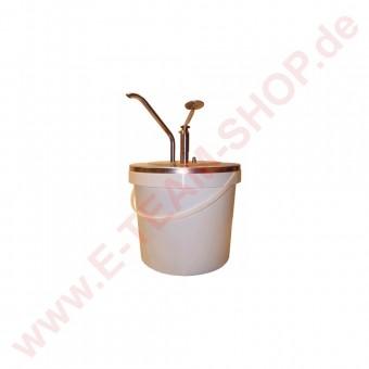 RAS Mayospender Edelstahl 10 Liter mit Plastikeimer Typ C, Deckel Ø 263mm für Eimertiefe ab 250mm