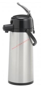 Animo Pumpthermoskanne 2,1 Liter mit Edelstahlkolben - auch verwendbar für Bonamat