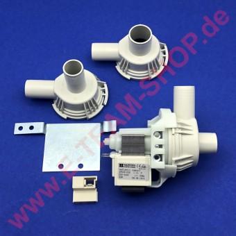 Laugenpumpe Hanning DPS25-032, 30W 220-240V Set mit 3 Pumpendeckeln, z.B. für Spülmaschine, Kombidämpfer