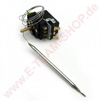 Regelthermostat 1-polig  0-110°C Fühler Ø 6x140mm mit Vorsatzschalter und Knebel, für Jünger Wurstwärmer