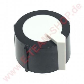 Knebel Ø 47mm Achse 6x4,6m für Regler, Schalter, Thermostat, Gashahn z.B. für Herzog+Langen, GGX, Praxanorm - entspricht Awater 425000.527