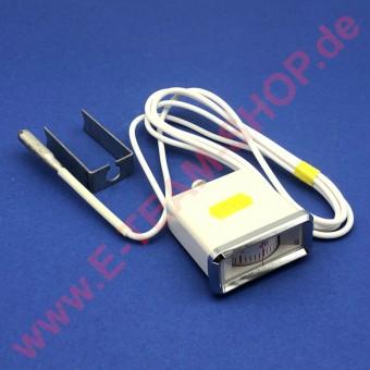 Einbauthermometer -40 bis +40°C Breite 57mm Länge 24mm Tiefe 66mm Fühler Ø 8 x 40mm, verwendbar für Kühl- und Tiefkühlschrank