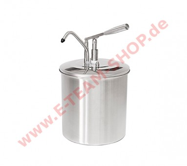 Schneider Mayospender Edelstahl 10 Liter, Behälter Ø 265mm Höhe 440mm