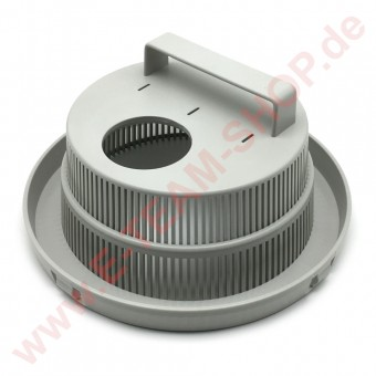 Filter Ø 200mm Höhe 94mm mit Schmutzrinne, Griff & Loch für Ablaufstopfen, z.B. für Meiko Spülmaschine