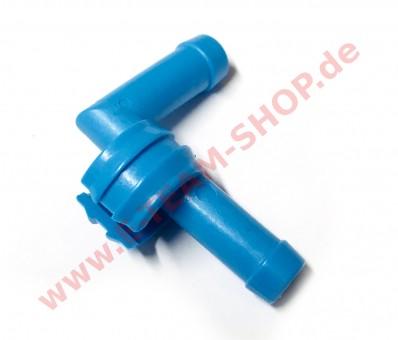 Doppelnippel für Dosierschlauch Klarspüler blau, für Meiko Spülautomaten