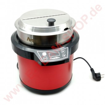 Suppenkessel,  7 Liter, 860W, rot
