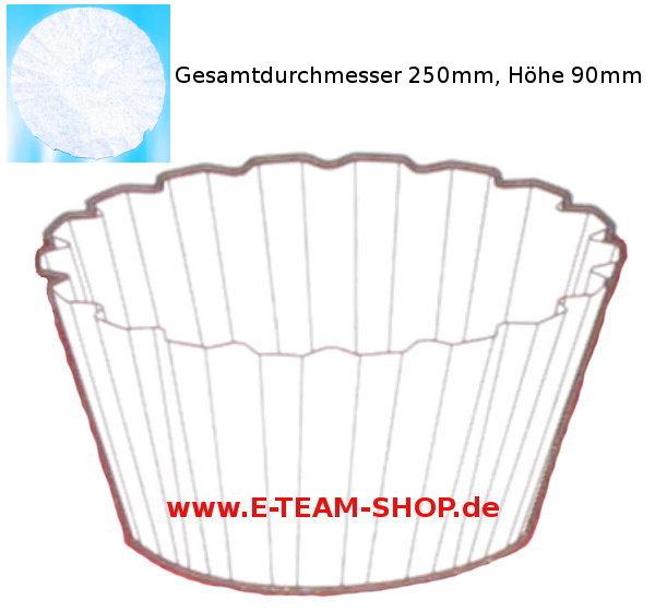 Kaffeefilter Korbfilter Größe 90/250 VPE 250 Filter, für Gewerbe-Kaffeemaschine mit Glaskanne oder Thermoskanne