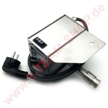 Motor (50 Hz/230V/3,5 Watt) für Potis Döner, Gyros-Grill im Edelstahlgehäuse 1 U/min, links- & rechtsdrehend, Nullstellung durch Schalterbetätigung