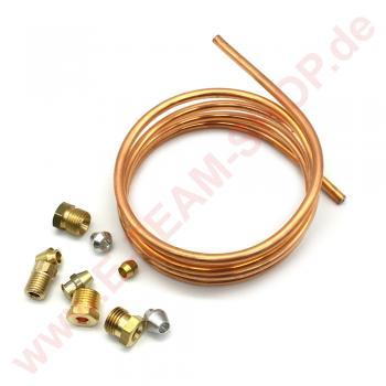 Universalsatz Zündbrenner-Gas-Leitung Ø 4mm mit Verschraubungs-Sortiment, Länge 1000m