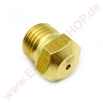 Gasdüse Gewinde M10x1 Bohrung Ø 1,25mm Schlüsselweite 11, z.B. für Giga Gasherd