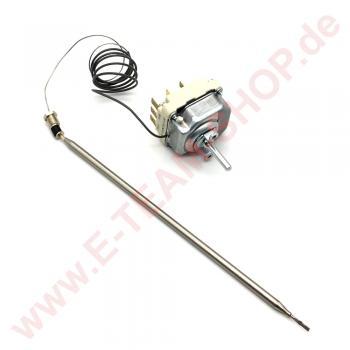Regelthermostat 3-polig 30-93°C Fühler Ø 6x235mm Achse Ø 6x4,6mm Stopfbuchsenanschluss M9x1 z.B. für Palux