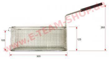 B-WARE Fritteusenkorb 170x305x125 mm, verzinnt, für Küppersbusch Fritteuse