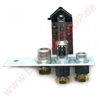 Zündbrenner Poidoro 3-flammig mit Rohranschluss und Schneidring