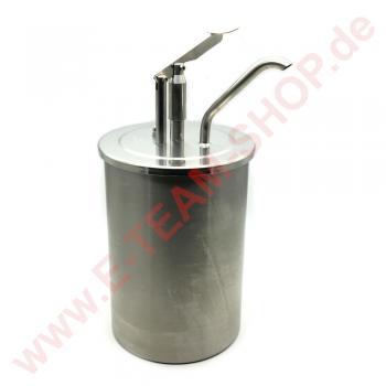 RAS Mayospender Edelstahl  6,5 Liter komplett, Behälter Ø 182mm (Außenmaß Rand Ø 192mm), Höhe 265mm, Gesamthöhe 415mm