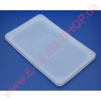 Flexibler Silikondeckel GN1/1 Außenmaß 530x325mm - Semi Transparent