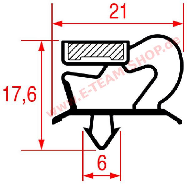 ersatzteil t rdichtung steckdichtung ca 1594 x 676 mm mit magnetband f r k hlschrank artn70. Black Bedroom Furniture Sets. Home Design Ideas