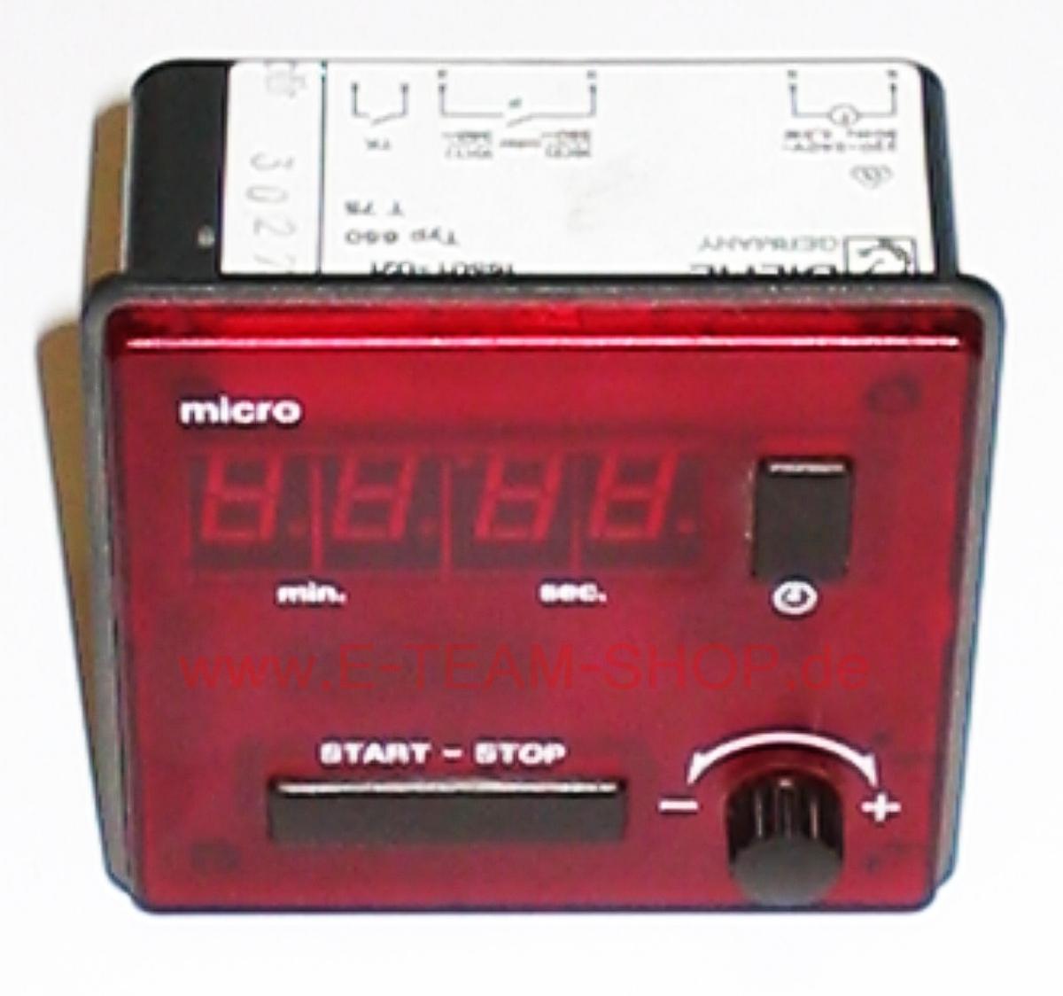 ersatzteil digital zeitschaltuhr einbau 1sec bis 99min 220 240v 50hz diehl micro typ 650. Black Bedroom Furniture Sets. Home Design Ideas