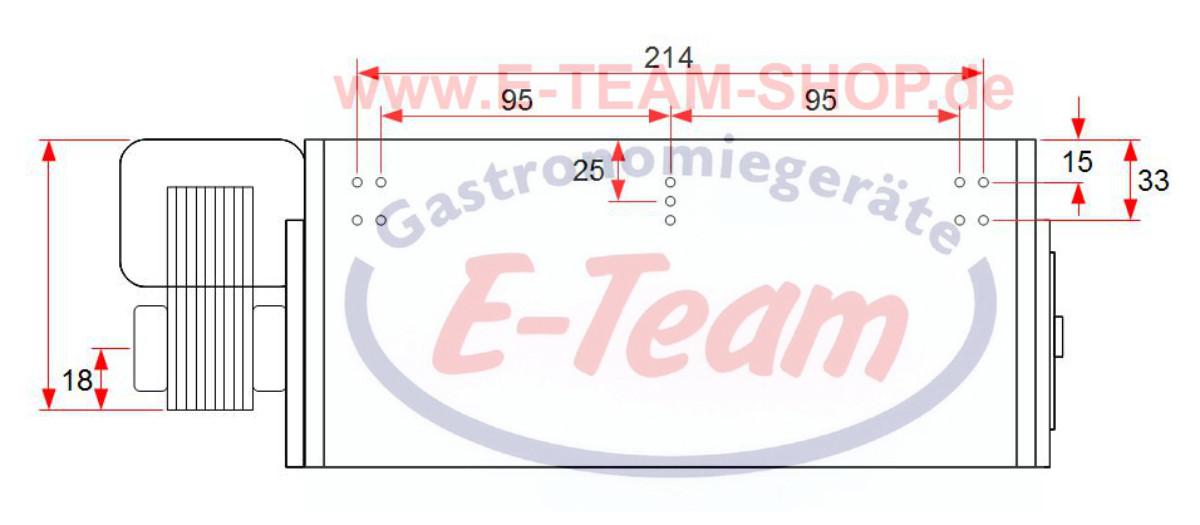 Ersatzteil | Querstromlüfter 230V / 35W, 032A, Walze Ø 60 x 240mm, 2 ...